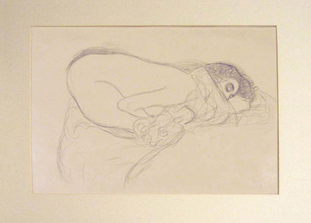 Lithograph Klimt - Untitled I.III