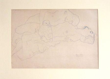 Lithograph Klimt - Untitled I.IV