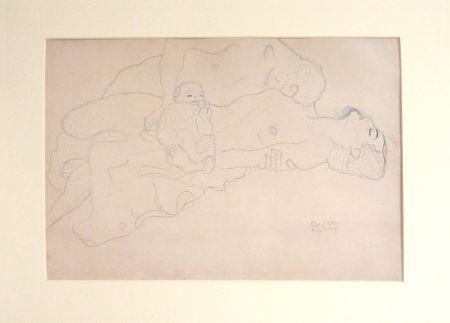 Lithograph Klimt - Untitled IV