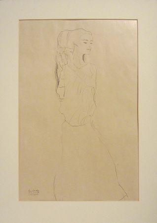Lithograph Klimt - Untitled I.VI