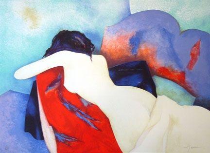 Lithograph Gaveau - Untitled (Nude IV)