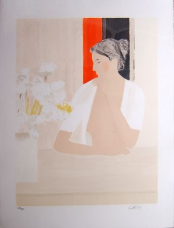 Lithograph Cathelin - Untitled (Portrait)