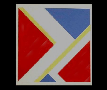 Screenprint Bolotowsky - Untitled (Red)