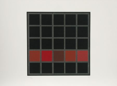 Screenprint Soto - Untitled (Red)