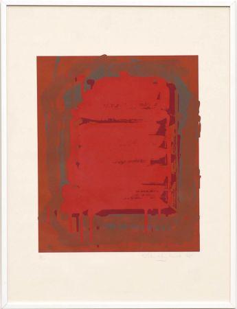 Screenprint Hoyland - Untitled Red