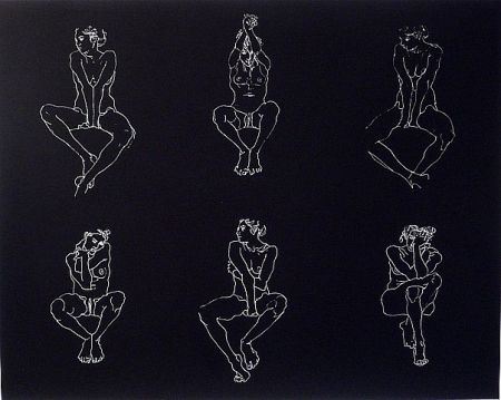 Screenprint Graham - Untitled, Six Nudes