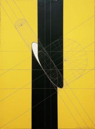 Lithograph Pomodoro - Untitled (Slashed column)