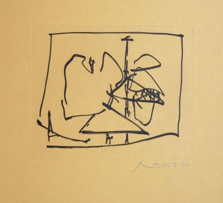 Etching And Aquatint Motherwell - Untitled (State I)