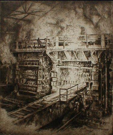 Engraving Kuhler - Untitled (steel mill)
