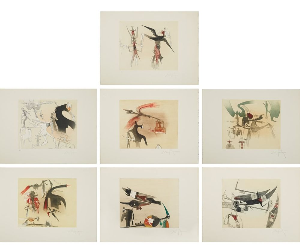 Etching And Aquatint Lam - Untitled Suite (TR 7901-7907)