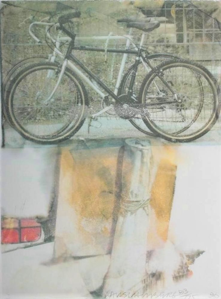Screenprint Rauschenberg - Untitled (Two Bicycles)