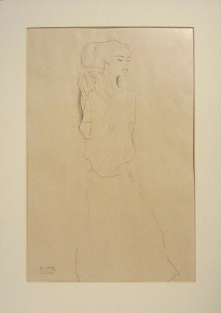 Lithograph Klimt - Untitled VI