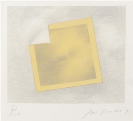 Lithograph Goode - Untitled (yellow folded photo)