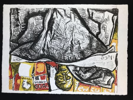 Lithograph Guttuso - Uomo con Giornale