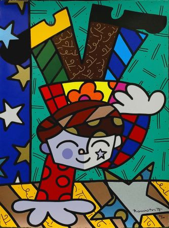 Screenprint Britto - UPSIDEDOWN TOO