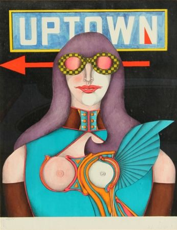 Lithograph Lindner - Uptown