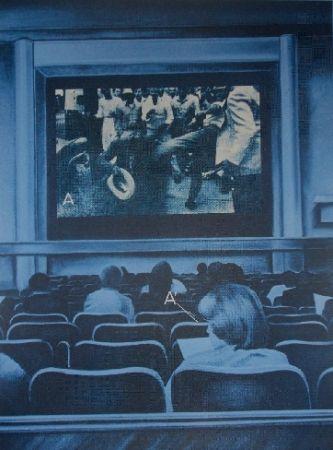 Screenprint Monory - USA 76 - Movies