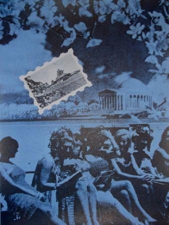 Screenprint Monory - USA 76 - Plage