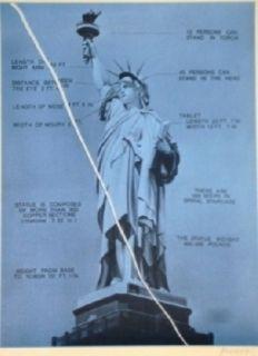 Screenprint Monory - USA 76 - Statue de la liberté