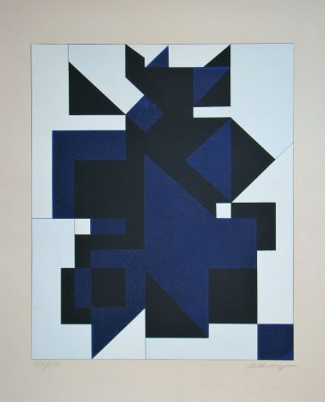 Screenprint Vasarely - Utica