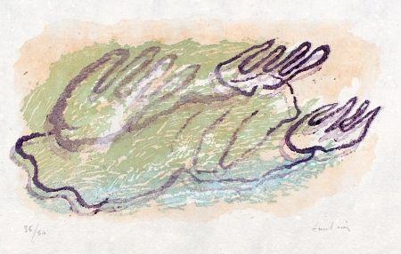 Woodcut Fautrier - Végétaux