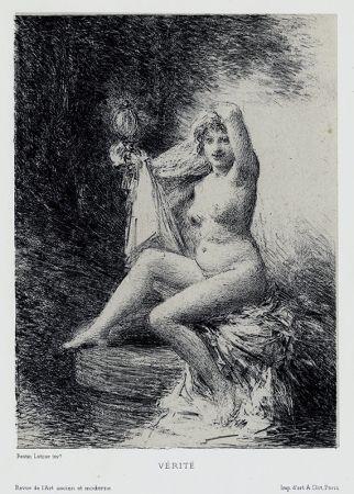 Lithograph Fantin-Latour - Vérité (petite planche)