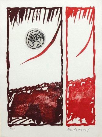 Engraving Alechinsky - '' Vaccilations ''