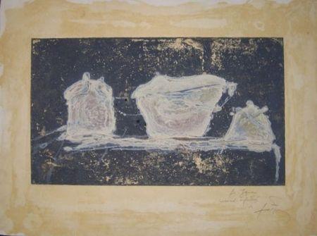 Engraving Tàpies - VAISSELLE