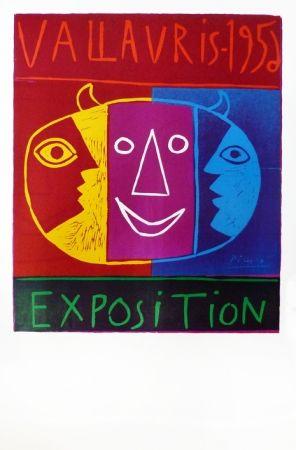 Linocut Picasso - Vallauris 1956