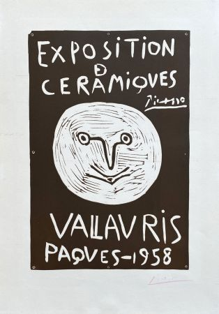 Linocut Picasso - Vallauris 1958