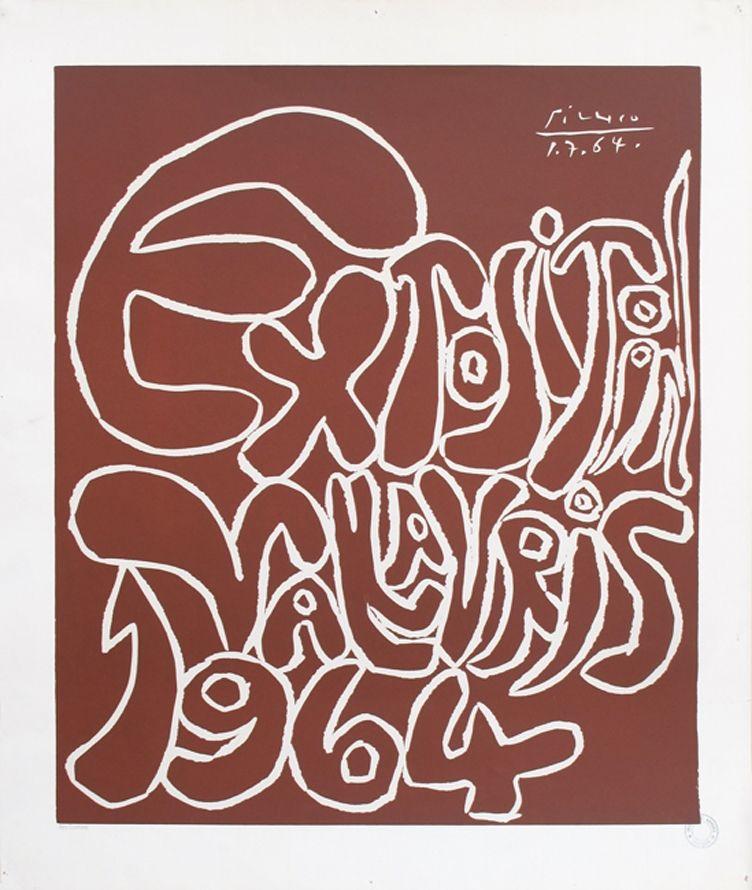 Linocut Picasso - '' Vallauris 1964 ''