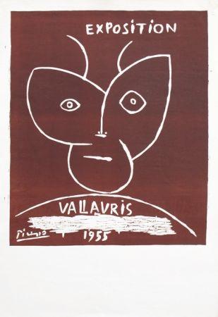 Linocut Picasso - Vallauris 55