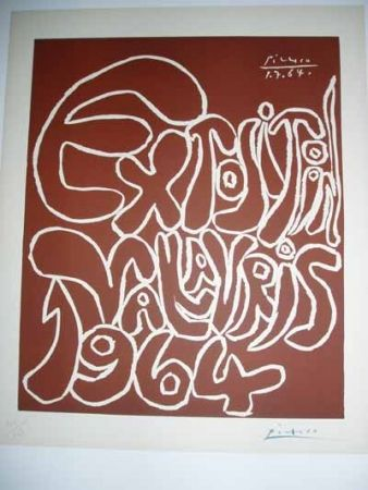 Linocut Picasso - Vallauris Exhibition 1964