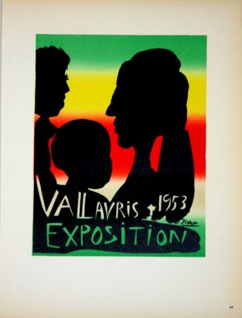 Lithograph Picasso - Vallauris Exposition 1953