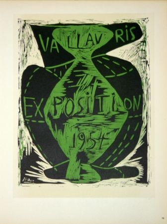 Lithograph Picasso - Vallauris Exposition 1954