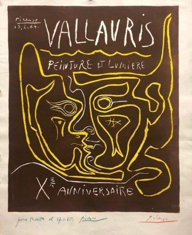 Linocut Picasso - Vallauris, peinture et lumière X Anniversaire
