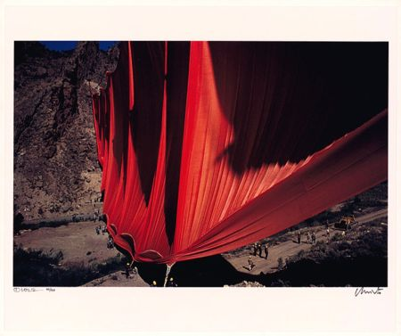 Photography Christo - Valley Curtain