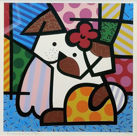 Screenprint Britto - VALLEY DOG