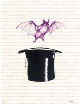 Lithograph Brossa - Vampir