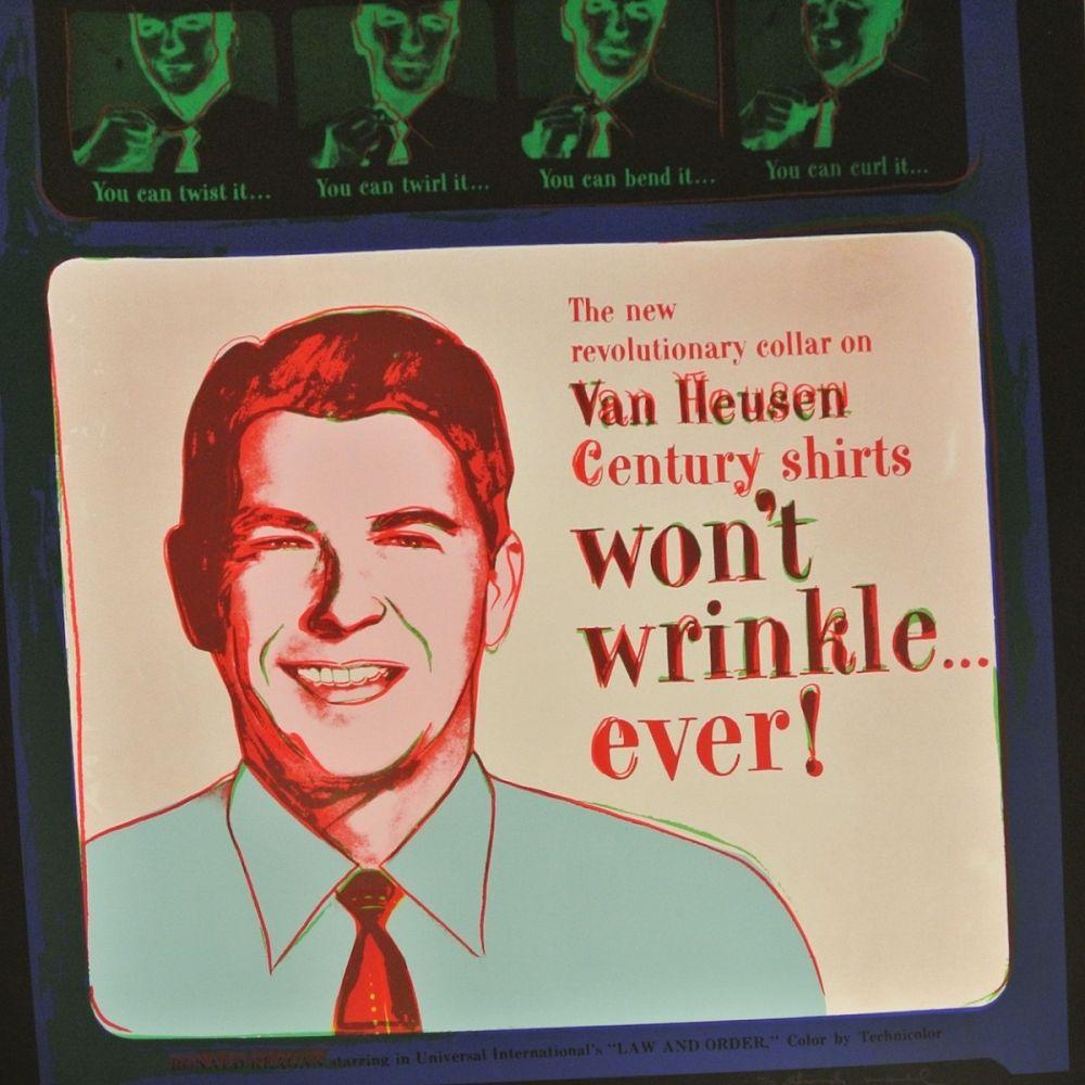 Screenprint Warhol - Van Heusen (Ronald Reagan) (FS II.356)