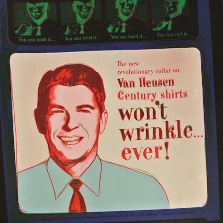 Screenprint Warhol - Van Heusen (Ronald Regan) (FS II.356)