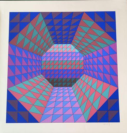 Screenprint Vasarely - Vancouver 7