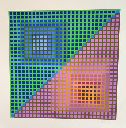 Screenprint Vasarely - Vancouver 8