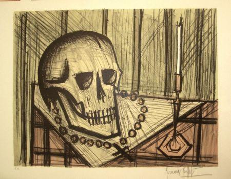 Lithograph Buffet - Vanité au crâne