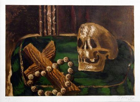 Lithograph Braque - Vanitas