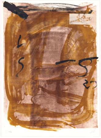 Lithograph Tàpies - Variations