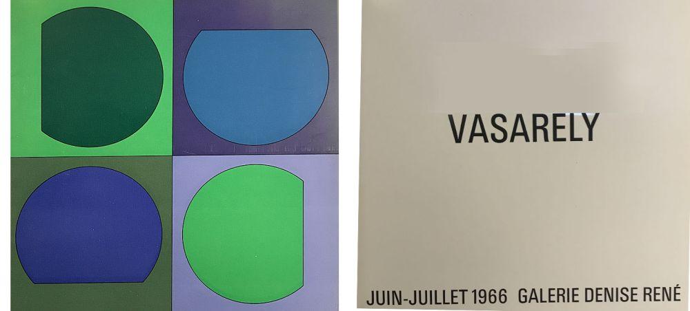Illustrated Book Vasarely - Vasarely Juin Juillet 1966 - Galerie Denise René