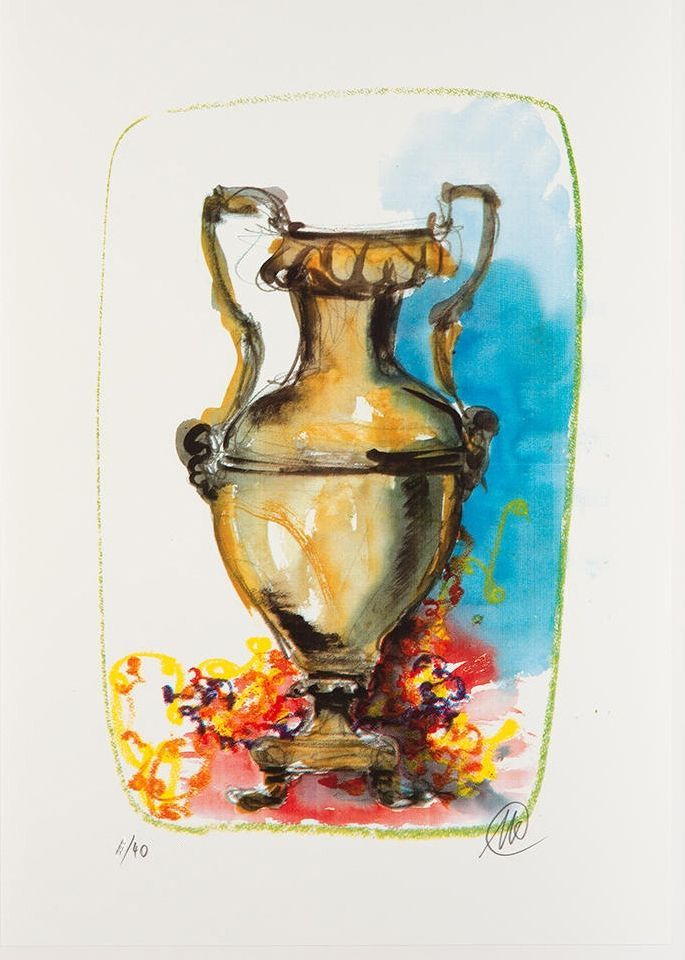 Screenprint Lüpertz - Vase 1