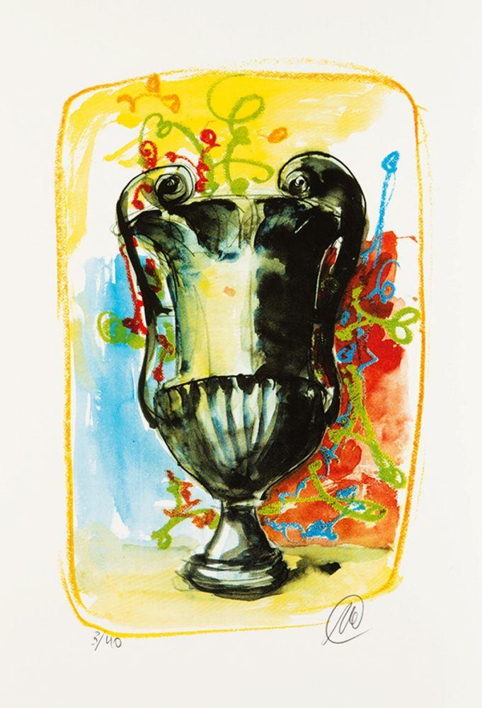 Screenprint Lüpertz - Vase 3