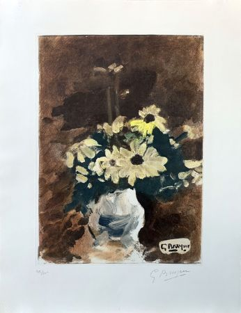 Engraving Braque (After) - Vase de fleurs jaunes